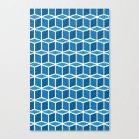 Blue Boxes Canvas Print