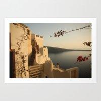 Tranquility of Santorini Art Print
