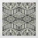 Geometric in Black and Beige Canvas Print