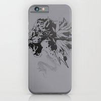 iPhone & iPod Case featuring Snow Leopard (Grey) by Ghostsontoast