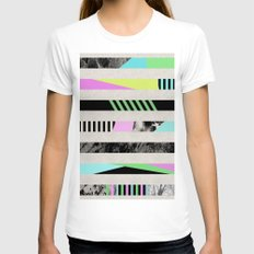 Crazy Lines - Pop Art, G… Womens Fitted Tee White SMALL