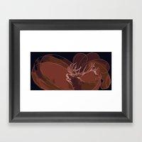 Howling Deer Framed Art Print