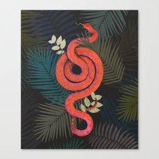 Tropical snake Canvas Print