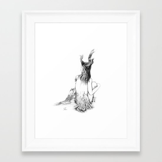 Sleeping Forest Framed Art Print