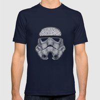 Trooper Star Circle Wars Mens Fitted Tee Navy SMALL