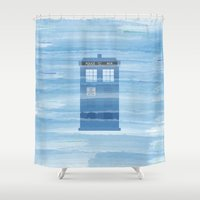 TARDIS Under The Sea - D… Shower Curtain