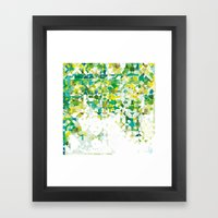 Zellige | 001 Green Framed Art Print