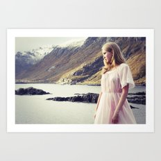 The Young Girl and the Sea Art Print
