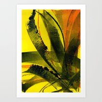 Yellow Plant Life Art Print
