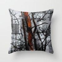 Burnt Tree Throw Pillow
