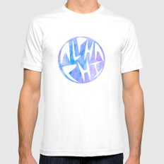 Aphi Graphic Watercolor Circle Mens Fitted Tee White SMALL