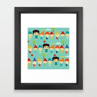 Snow White And The 7 Dwa… Framed Art Print