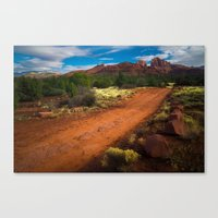 Red Desert Day Canvas Print