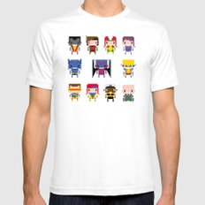 Pixel X-Men Mens Fitted Tee White SMALL