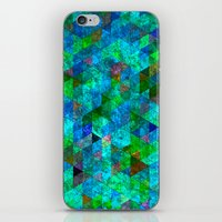 Colored Triangles Green … iPhone & iPod Skin