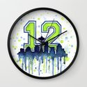 Seahawks 12th Man Fan Art Wall Clock