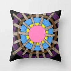 radial blame II Throw Pillow