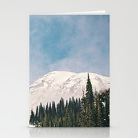 Mount Rainier in the Winter Stationery Cards