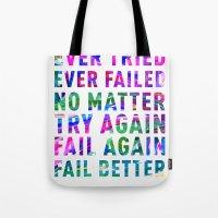 Fail Better Tote Bag