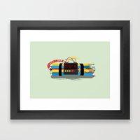 Even ideas bomb Framed Art Print