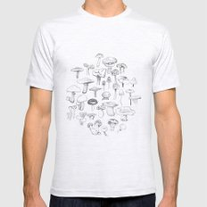 The Mushroom Gang Mens Fitted Tee Ash Grey SMALL