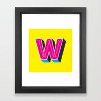 Wor M upside down ? Framed Art Print