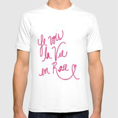 La Vie en Rose Mens Fitted Tee White SMALL