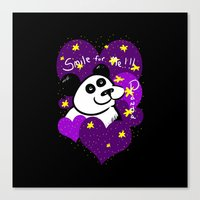 Smile For Me! PANDA - He… Canvas Print