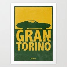 Gran Torino - minimal poster Art Print