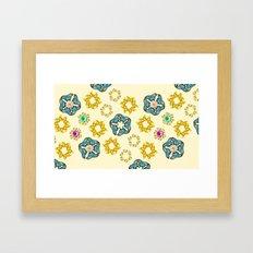 hippie butterfly Framed Art Print