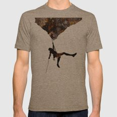 Rock Climbing  Mens Fitted Tee Tri-Coffee SMALL
