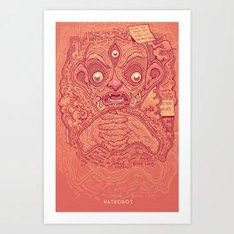 Art Print - 1000 Pots - hatrobot