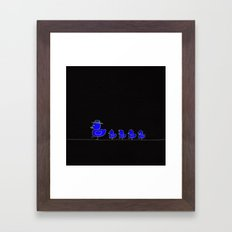 Mom_! Walk SLOW_! Framed Art Print