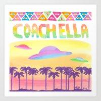 Coachella Visitors  Art Print