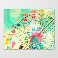 Panoramic Carnival Ferri… Canvas Print