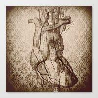 My Wooden Heart Canvas Print