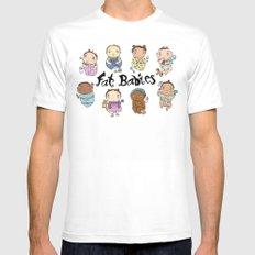 Fat Babies SMALL White Mens Fitted Tee