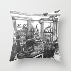 Coffee in the Afternoon Throw Pillow