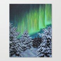 Northern Lights, Algonquin Park Canvas Print
