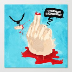 Flipping the Bird Canvas Print