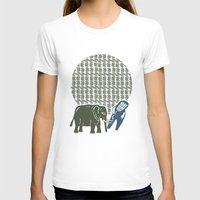 Elephant  Womens Fitted Tee White SMALL