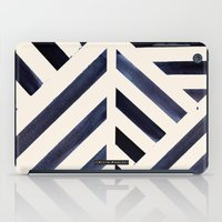 Watercolor Stripe Midnight iPad Case