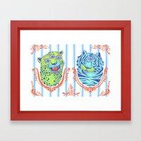 Stephan and Steve Framed Art Print