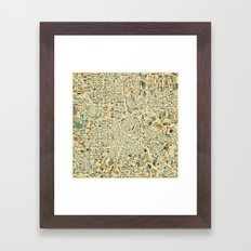 HOUSTON MAP Framed Art Print