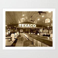 Texaco Art Print