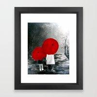 Black White Red Mother A… Framed Art Print