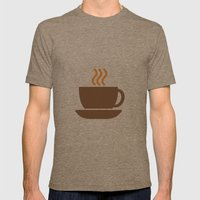 Hot Drinks Available. Mens Fitted Tee Tri-Coffee SMALL