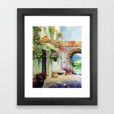 Sunny Patio Framed Art Print