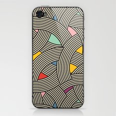 Modern Scandinavian Multi Colour Color Curve Graphic iPhone & iPod Skin