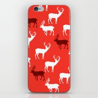Christmas Reindeers Patt… iPhone & iPod Skin
